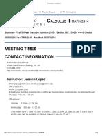 Syllabus Calculus II