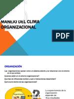 El Manejo Del Clima Organizacional en Las Organizaciones
