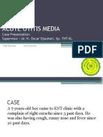 Case 1 OMA- Dr. Oscar, Sp.tht-1 Didi Suryana