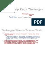 7 Prinsip Kerja Timbangan