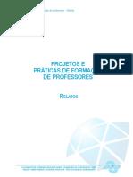 Projetos e práticas de formação de professores