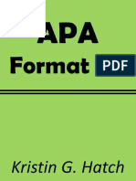 Apa Format 101 the Crazy Easy