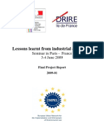 Lessons Learnt From Industrial Accidents IV FINAL REPORT