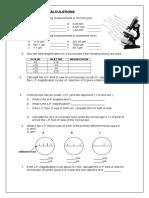 microscope calculations