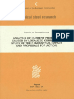 Analysis of Current Problems Caused by Localized Corrosion. Study of Their Idustrial Impact and Proposals for Action