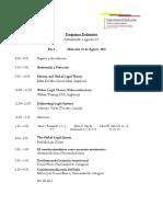 programa  conferencias centrales y mesas de trabajo