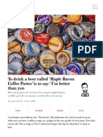 Spectator Life - To Drink a Beer Called 'Maple Bacon Coffee Porter' - 160604