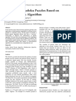 Research on Sudoku Puzzles Based on Metaheuristics Algorithm