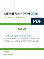Membership Drive 2016-Orientation Ppt