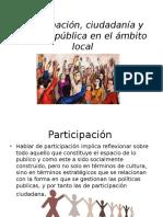 Participación, Ciudadanía y Gestión Pública en El