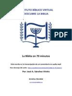 Transcripción La biblia en 70 minutos