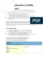 Introducción Al HTML 2016