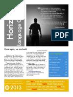 Horizon.language.gazette 2013-03-04