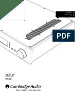 Azur 851E User Manual English