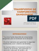 11.- 180309 Tranfusión de componentes sanguíneos.pps