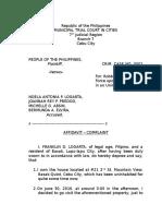 Affidavit Complainant Logarta 2