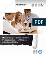 Máster Europeo en Intervención Psicoeducativa con Niños con Altas Capacidades