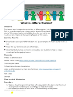 lesson 1 what is differentiation