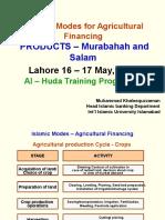 AlHuda CIBE - Islamic Modes Agricultural Financing by Muhammad Khaleequzza