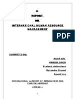 Report on IHRM