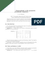 A note on the Smarandache cyclic geometric determinant sequences