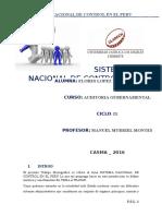 Sistema Nacional de Control en El Perú