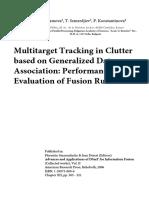 Multitarget Tracking in Clutter based on Generalized Data Association