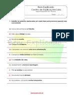5.2 Ficha de Trabalho Conjugação Do Verbo Com o Pronome Pessoal 1