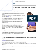 6 Easy Ways to Lose Belly Fat (Fast and Safely)