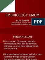 Embriologi Umum (Dr.ulfa)