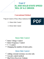 Unit v - Conventional and Solid State Speed Control of a.c Drives