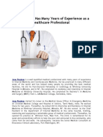 Jose Poulose Has Many Years of Experience as a Healthcare Professional