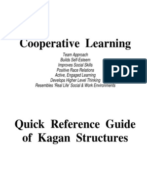 Cooperative Learning Kagan Quick Reference Guide | Consensus