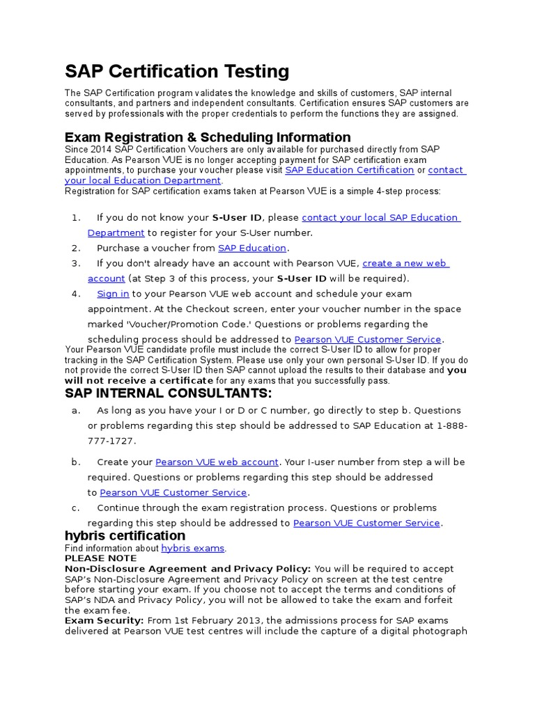 Pearson Vue | Internet Privacy | Public Key Certificate