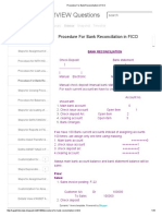 Procedure for Bank Reconciliation in FICO