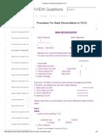 Procedure for Bank Reconciliation in FICO