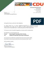 Haarzopf/Fulerum Einladung September