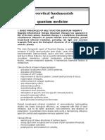Principles of Quantum Medicine