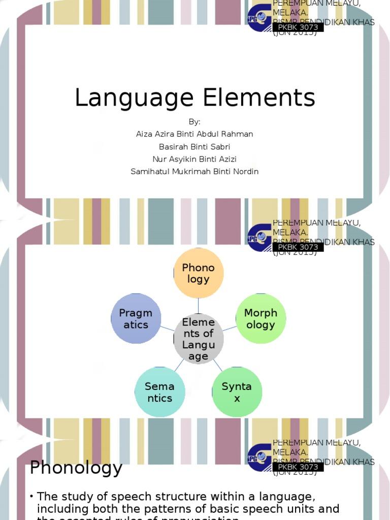 Language Elements | Phonology | Word
