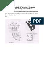 CAD Lab Problem Sheet III