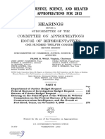 HOUSE HEARING, 112TH CONGRESS - COMMERCE, JUSTICE, SCIENCE, AND RELATED AGENCIES APPROPRIATIONS FOR 2013