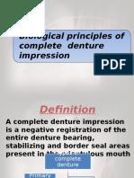 biological principles of impression