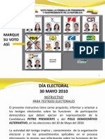 Instructivo para Testigos Electorales - Polo Democrático Alternativo