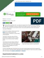 Ebola Convalescent Plasma Safe to Use - Medical News Today