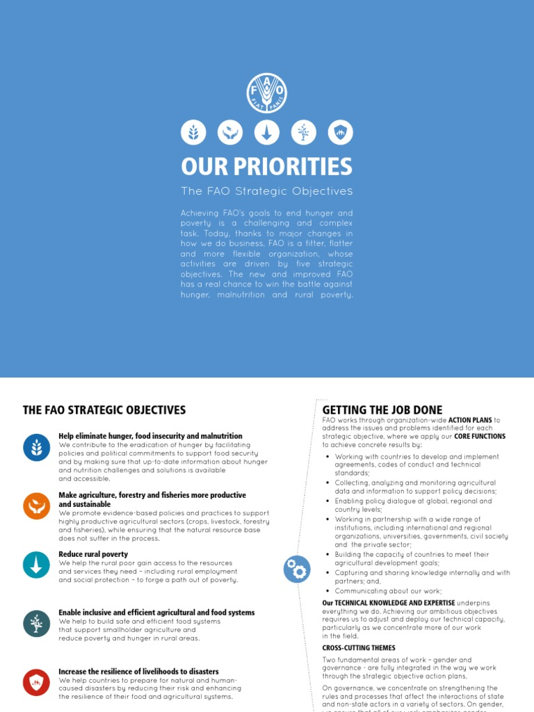 The FAO Strategic Objectives | Food And Agriculture Organization