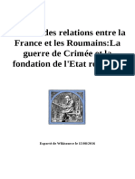 Histoire Des Relations Entre La France Et Les Roumains-La Guerre de Crimée Et La Fondation de l'Etat Roumain