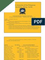 AUP@100 Centennial Celebration Schedule