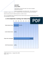 CNBC Fed Survey, Aug 24, 2016