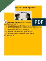 august 24 2016 agenda on conflict