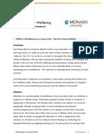 Mindfulness Wk06 Living Mindfully